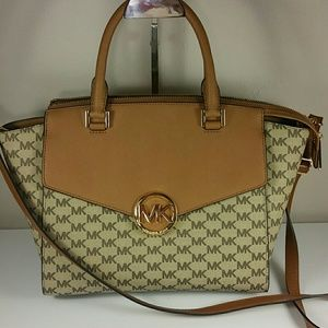 NEW Michael Kors Hudson Large Satchel